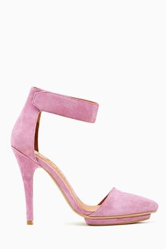 Solitaire Platform Pump in Lavender Suede by Jeffrey Campbell