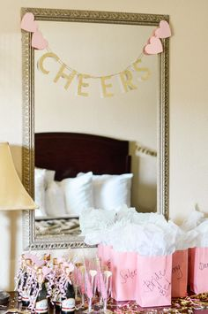 bachlorette party ideas Tips on how to make sure your Hotel Bachelorette Party is extra special! Decor ideas, money-saving tips, and easy DIY hotel room transformation tricks! Bachelorette Slumber Parties, Bachelorette Party Pictures, Bachelorette Party Planning, Bachlorette Party, Bachelorette Party Decorations, Bachelorette Weekend, Bachelorette Lingerie Party, Bachelorette Banner, Hen Party Decorations
