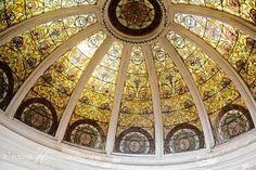 Stained Glass Dome at Fell Van-Renssealaer House, Philadelphia