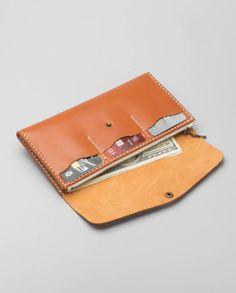 Long Zipper Wallet – Rust | Harlex Handmade Leather-SR