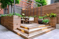 Pergola - Nolita Common Space - Designed by Gunn Landscape Architecture #landscapearchitecturecourtyard