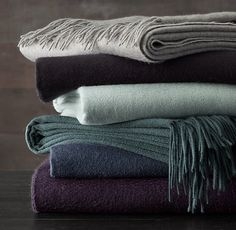 RH's 555-Gram Cashmere Throw:Our premium cashmere throw offers sumptuous softness and cozy warmth year round.