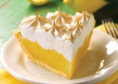 Exquisite cake of lemon cream and Swiss meringue or lemon pie, step by step recipe Lemon Meringue Pie, Lemon Cheesecake, Swiss Meringue, Lemon Pie Receta, Salty Cake, Sweet Tarts, Cream Pie, Lemon Cream, Savoury Cake