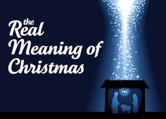 """As we turn our attention to the Lord Jesus this Christmas, the following story will help kids and parents remember the Real Meaning of Christmas. Practical Idea: download your copy of the """"Real Mea..."""
