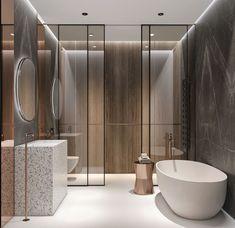 Bathroom Design - sublime salle de bain moderne, bois et terrazzo