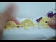 Barrado de crochê Florzinha delicada - YouTube