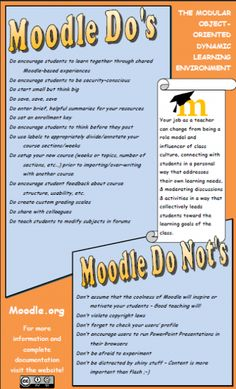 Moodle Do's and Do Not's