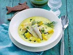 Keitä maukas kalakeitto pakastekuhasta. Tilliöljy viimeistelee annoksen.