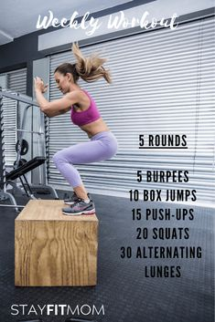 Home Crossfit workout using little to no equipment. Box Jump Workout, Wod Workout, Workout Humor, Gym Humor, Crossfit Workout Program, Workout Shirts, Fitness Workouts, Fitness Motivation, Fitness Gear