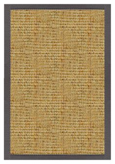 Sustainable Lifestyles Spice Sisal Rug with Quarry Cotton Border