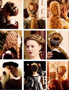 Lucrezia Borgia + hairporn (part . Mode Renaissance, Italian Renaissance, Divas, Renaissance Hairstyles, Lucrezia Borgia, 70s Hair, Hair Nets, Hair Ornaments, Mom And Baby