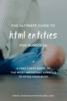 Have you ever seen beautiful symbols on other blogs without knowing where to find them? We've made a list of the most popular HTML entities for your blog posts +  a FREE cheat sheet so you can save it for later. Click here to see them and to start styling your articles.