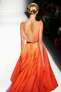 Ombre on the runway. Recreate the look with Rit Dye in Tangerine.