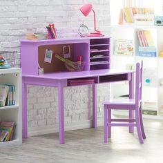 "Harriet Bee Glaser 44"" Writing Desk and Chair Set & Reviews   Wayfair"