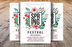 Spring Festival Flyer Template by Madhabi Studio on @creativemarket