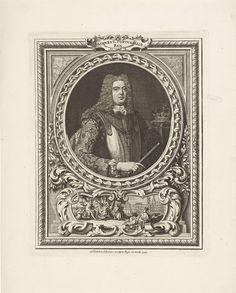 Portret van Johannes V, koning van Portugal, Gabriel François Louis Debrie, 1743