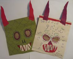 Paper Bag Mask Monsters | The Chocolate Muffin Tree