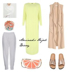 """""""Lemon and Grape fruit"""" by aminahs-hijab-diary ❤ liked on Polyvore featuring H&M, Kate Spade and Hipanema"""