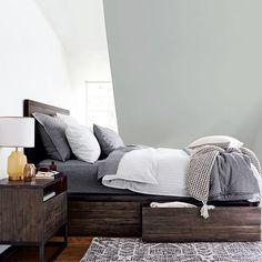 Logan Storage Bed - Smoked Brown #westelm