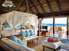 My dream bedroom in my beach house I will buy if I win the lottery :)