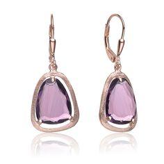 Collette Z Roseplated Sterling Silver Pear Drop Earrings