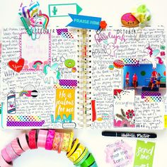 Memory Planner Ban.do layout Bible Journaling Illustrated Faith Stamps Stamping Washi Tape Planner Clips Journaling Cards Christian