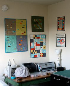 Amy's Mini Quilts Wall