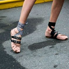 Most wanted: punked up @miumiu ballet slippers