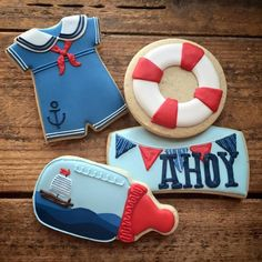 nautical baby onesie - LOVE the baby bottle & sailor suit onesie! - nautical baby onesie – LOVE the baby bottle & sailor suit onesie! Baby Boy Cookies, Baby Shower Cookies, Cute Cookies, Heart Cookies, Sailor Baby Showers, Baby Boy Shower, Galletas Decoradas Baby Shower Boys, Baby Shower Marinero, Nautical Cake