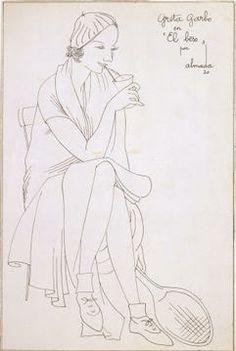 """Greta Garbo en """"El beso"""" 1930"""