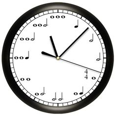 Decorative Music Notes Wall Clock for Musician on Etsy, $17.30 CAD