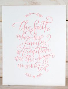 SOUTH Print - Gold | Southern Weddings Shop