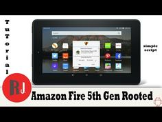 How to Root the Amazon Fire 5th Gen 7in tablet and remove fire launcher - YouTube