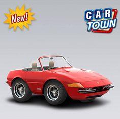 ¡NOVEDAD de hoy en Car Town: el Ferrari 365 GTS4 Daytona Spider 1969! Un raro e muy potente corredor que los coleccionadores de Ferrari y Pilotos de verdad no lo van a querer perder. ¡Agarra uno mientras puedes! 17/05/2013