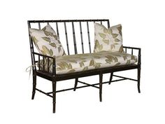 Shop for Woodbridge Faux Bamboo Regency Settee, 7054-32, and other Living Room Settees at Goods Home Furnishings in North Carolina Discount Furniture Stores Outlets. Faux Bamboo Regency Settee.  56W 26D 40H