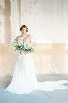 Inspiration: Erato. Dress: Carol-Hannah Erato |Photography:Ashley Rae Photography| Videography:Love Story Films| Makeup:Pearls Makeup| Florals:Bloom and Print| Calligraphy:Shotgunning For Love