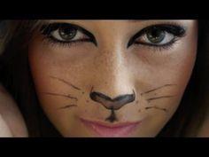 Cat makeup for halloween | Costumes &Costume Make up | Pinterest ...