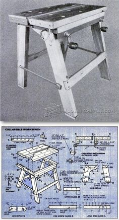 Foldable Workbench Plans - Workshop Solutions Plans, Tips and Tricks | WoodArchivist.com