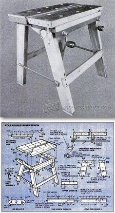 Foldable Workbench Plans - Workshop Solutions Plans, Tips and Tricks | WoodArchivist.com