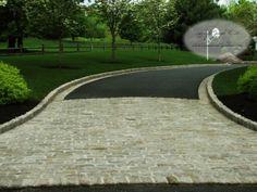 Cobble Stone entrance, asphalt driveway- concept
