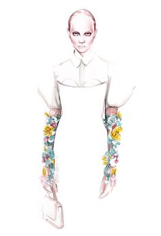 DELPOZO 2016 fashion illustration by António Soares Fashion Illustration Collage, Woman Illustration, Fashion Illustrations, Fashion Design Drawings, Fashion Sketches, Fashion Moda, Fashion Art, Croquis Fashion, Fashion Sketchbook