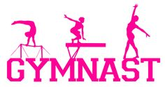 Your place to buy and sell all things handmade Gymnastics Wallpaper, Gymnastics Bedroom, Gymnastics Clubs, Gymnastics Stuff, Little Girl Rooms, My Little Girl, E Sport, Wall Decor Stickers, Silhouette Cameo Projects