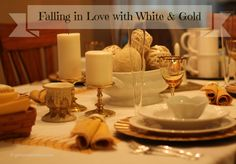 GotMyReservations - Falling into White and Gold Tablescape Intro