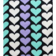 Blizzard Fleece Fabric- Mint Hearts ($4) ❤ liked on Polyvore featuring backgrounds, hearts and valentine
