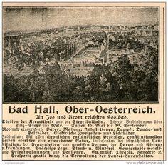 Original-Werbung/Inserat/ Anzeige 1899 - BAD HALL / OBER-OESTERREICH - ca. 100 x 90 mm