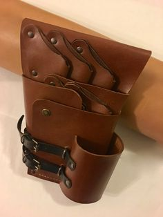 Leather Shear Holster Hairdressers Bag by LuBuLeatherDublin