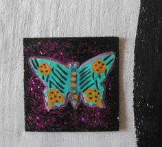 MINISCHMETTERLING AUF INCHIE - Nr. 2 von Herbivore11 Pappe Magnet Schmetterling Mini, Coasters, Ebay, Cardboard Paper, Magnets, Insects, Painting Art, Coaster, Coaster Set