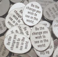 Set of 10 Be the Change Pocket Pieces