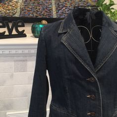 Style & Co Petite Jean Jacket Pre-loved. GUC. Size P. 97 Cotton/3 Spandex. Style & Co Jackets & Coats Jean Jackets