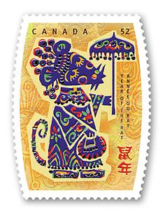 Year of the Rat in an unusual shape from Canada, 2008.